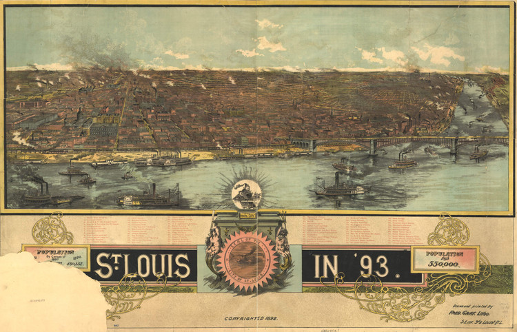 Historic Map - St. Louis, MO - 1893