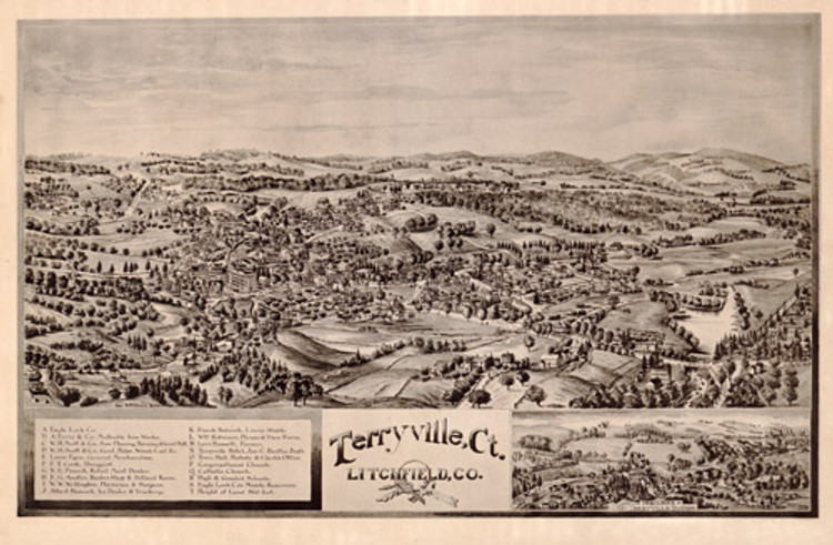 Historic Map - Terryville, CT - 1894