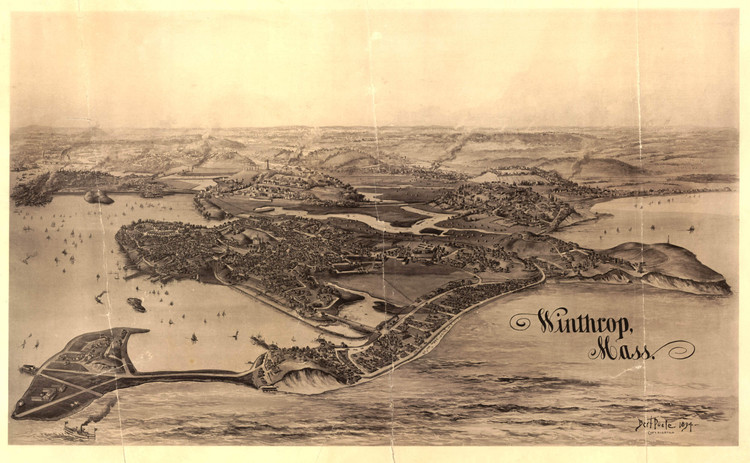 Historic Map - Winthrop, MA - 1894
