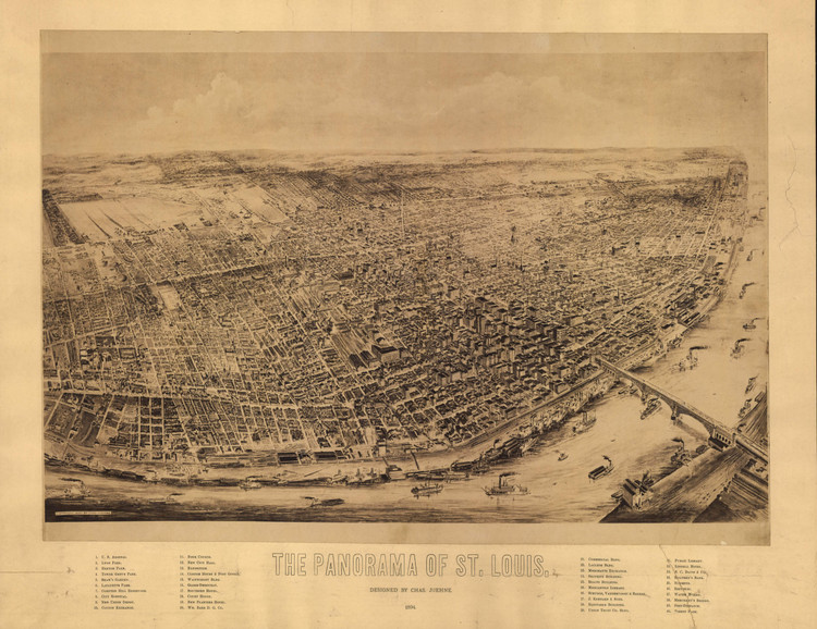 Historic Map - St. Louis, MO - 1894