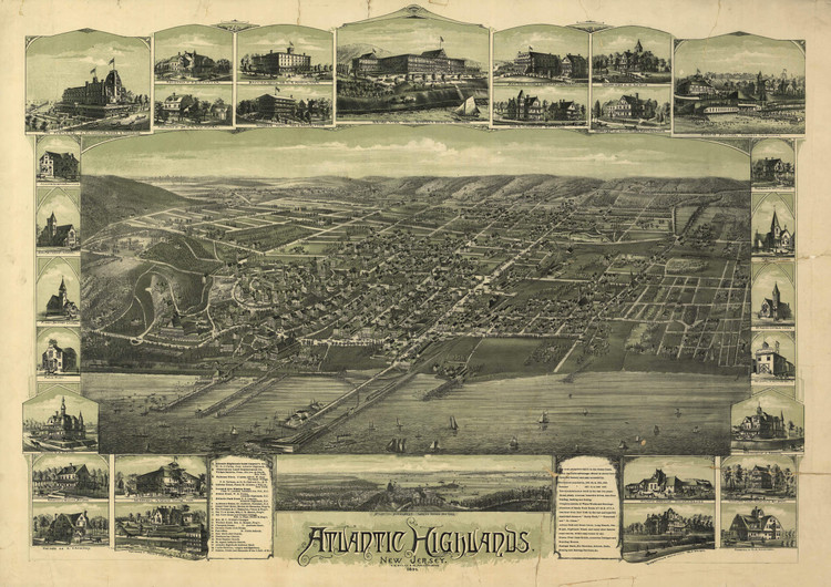 Historic Map - Atlantic Highlands, NJ - 1894