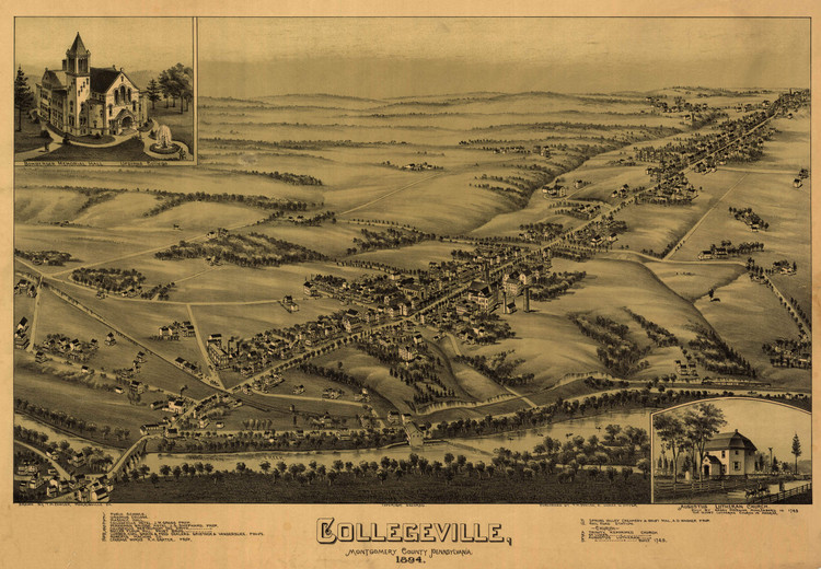 Historic Map - Collegeville, PA - 1894
