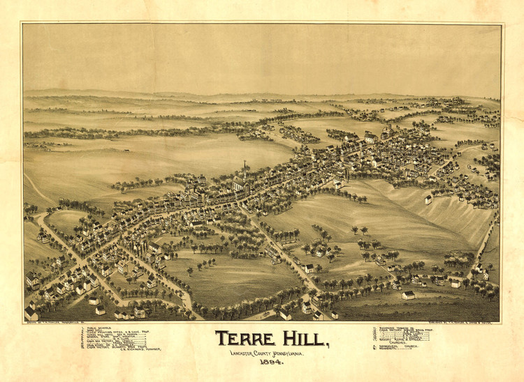 Historic Map - Terre Hill, PA - 1894