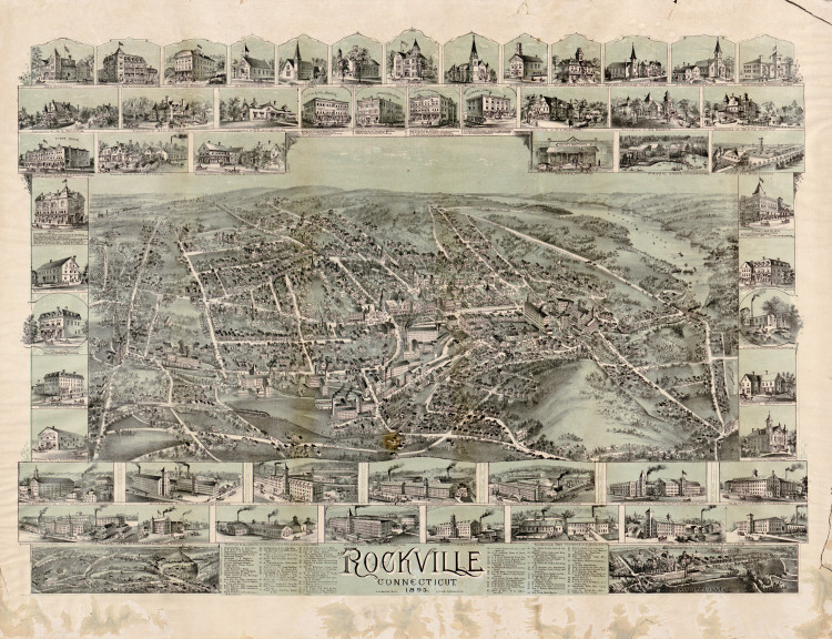 Historic Map - Rockville, CT - 1895