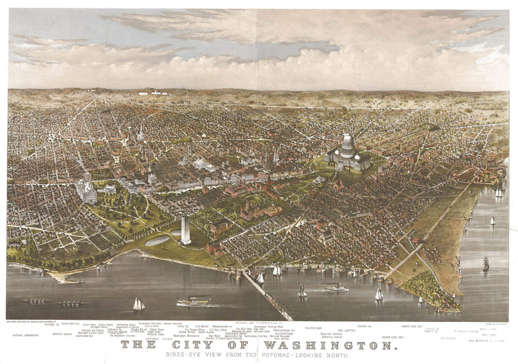 Historic Map - Washington, DC - 1880