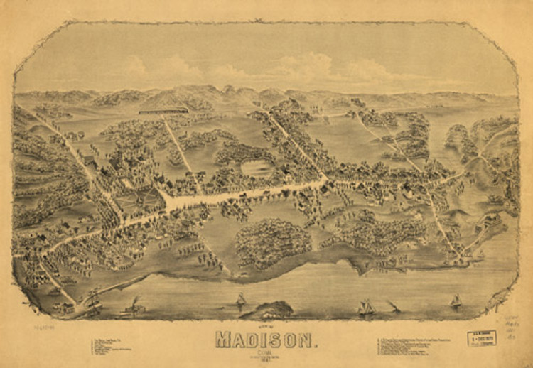 Historic Map - Madison, CT - 1881