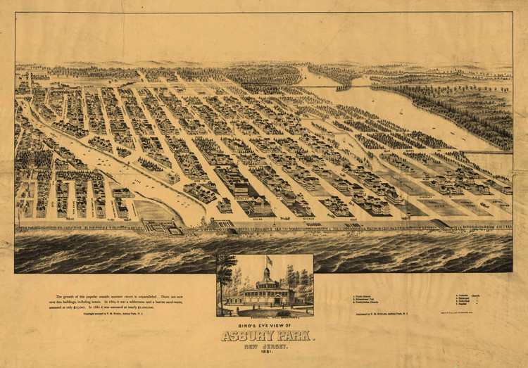 Historic Map - Asbury Park, NJ - 1881