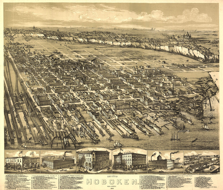 Historic Map - Hoboken, NJ - 1881