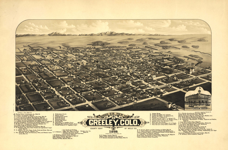 Historic Map - Greeley, CO - 1882