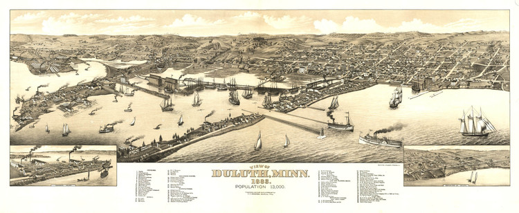 Historic Map - Duluth, MN - 1883