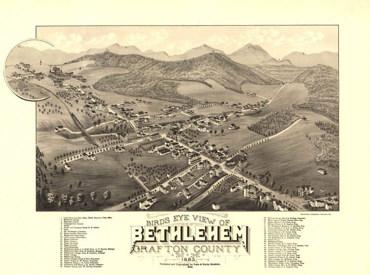 Historic Map - Bethlehem, NH - 1883