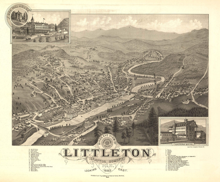 Historic Map - Littleton, NH - 1883