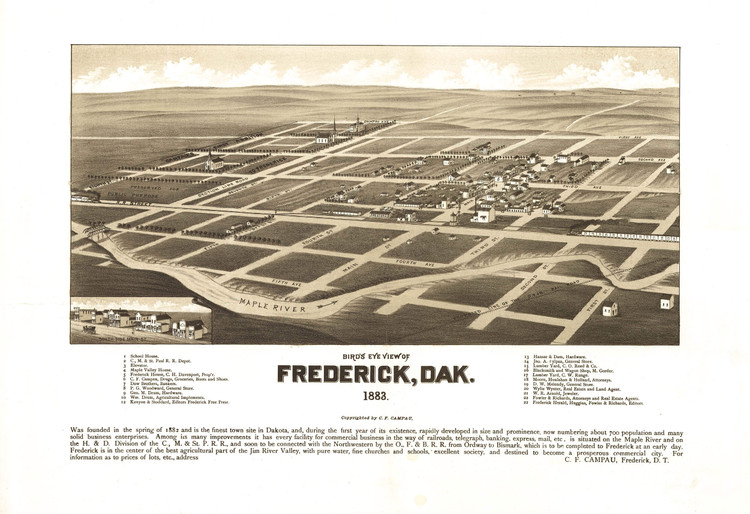 Historic Map - Frederick, SD - 1883