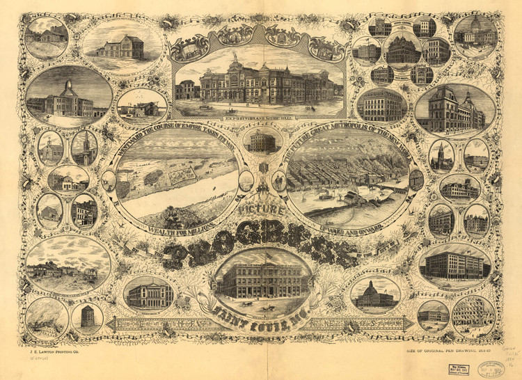Historic Map - St. Louis, MO - 1884