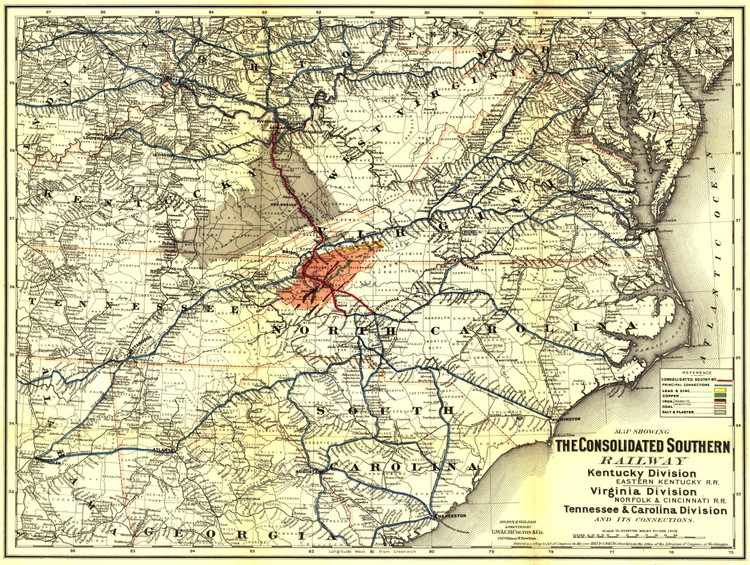 Historic Railroad Map of the Southern United States - 1883 - G.W. & C.B. Colton & Co.