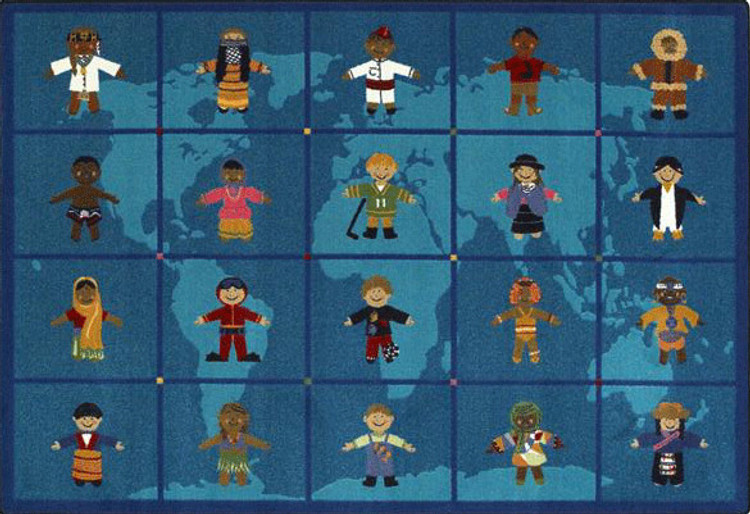 Reach Across the World Classroom Map Rug