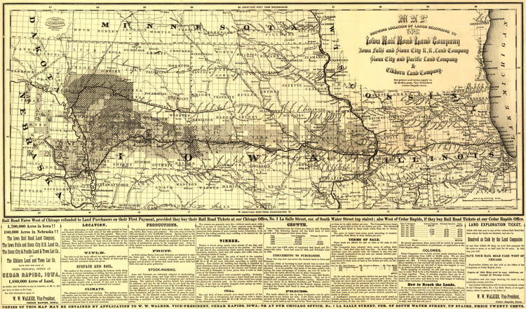 Historic Railroad Map of the Midwest - 1871 - G.W. & C.B. Colton & Co.