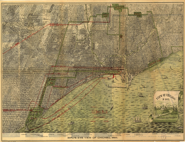 Historic Map - Chicago, IL - 1893 - Peter Roy