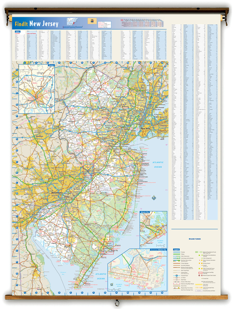 New Jersey Reference Spring Roller Map