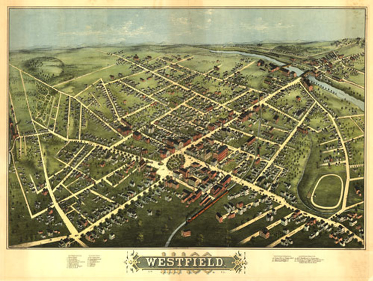 Historic Map – Westfield, MA - 1875