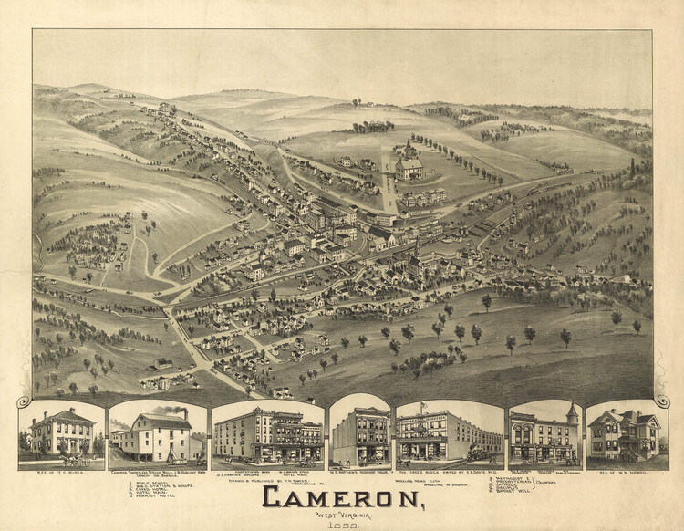 Historic Map - Cameron, WV - 1899