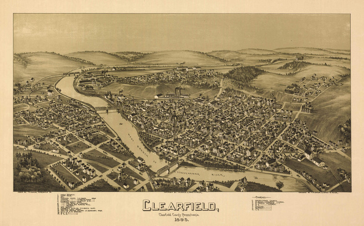 Historic Map - Clearfield, PA - 1895