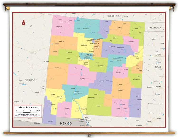 New Mexico Political Pull-Down Map