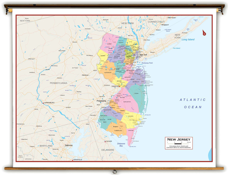 New Jersey Political Spring Roller Map
