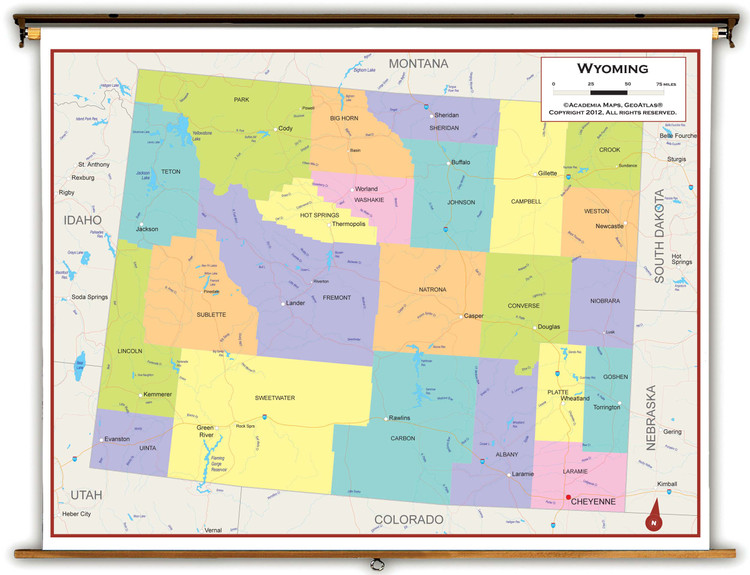 Wyoming Political Pull-Down Map