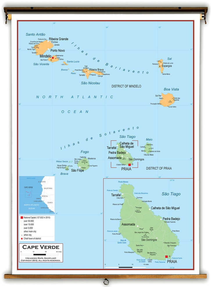 Cape Verde Political Educational Map from Academia Maps