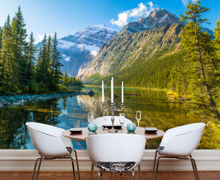 Cavell Lake Rocky Mountains Canada Wall Mural