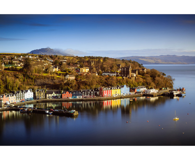Tobermory Isle of Mull Scotland Aerial View Wall Mural