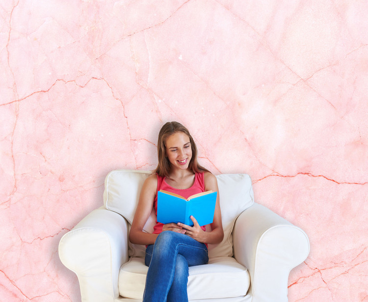 Pink Marble Wall Background Wall Decal