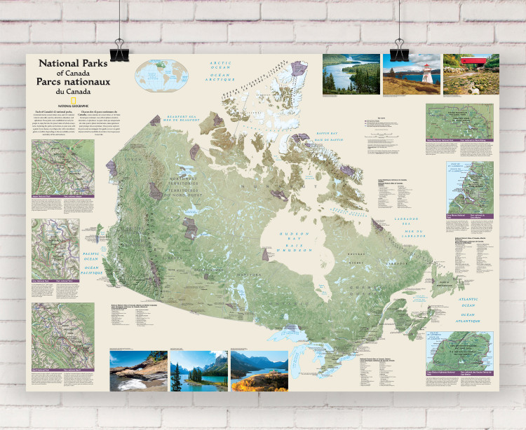 National Geographic Canada National Parks Wall Map