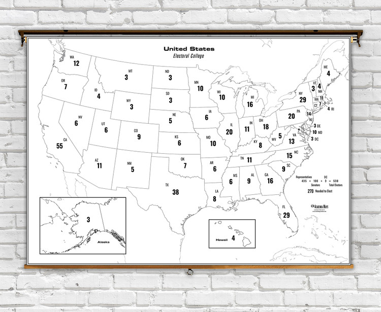 Electoral College Map of the United States 2020 Presidential Election