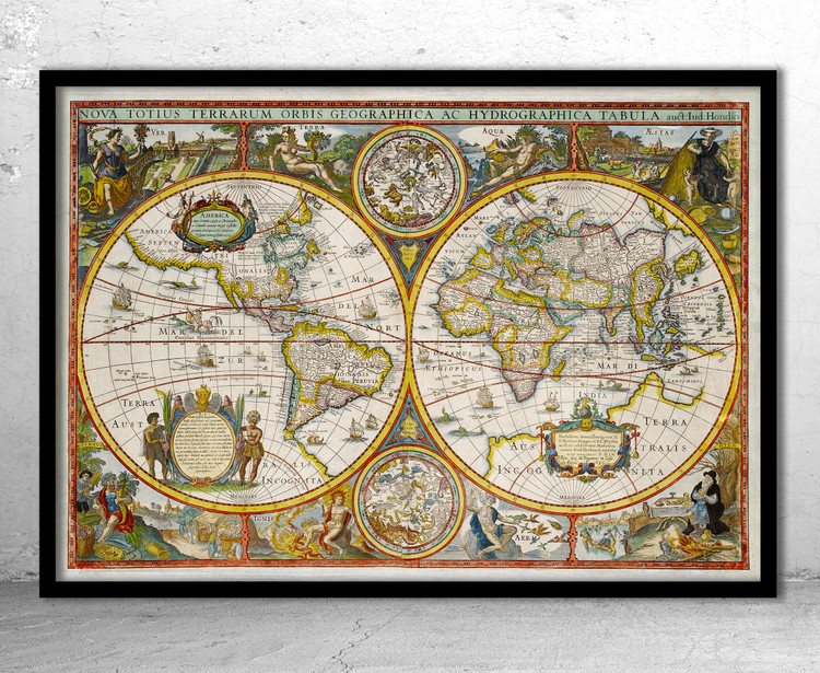 Old World Map - 1630 - Antique Reproduction Print