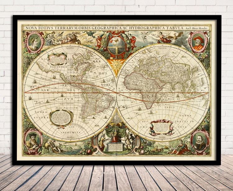 Old World Map - 1641 - Antique Fine Art Reproduction Print