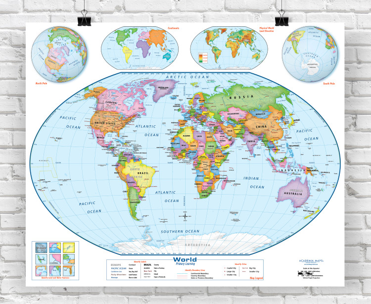 Academia Primary Learning Beginner World Classroom Style Map