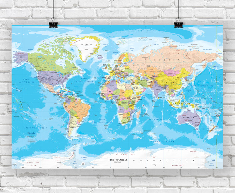 World Political Wall Map Poster