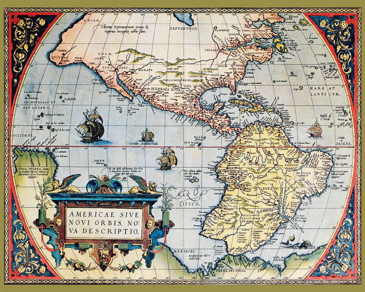 Historical Map - the Americas 1