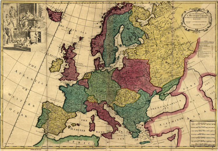 Historic Map - Europe - 1700's
