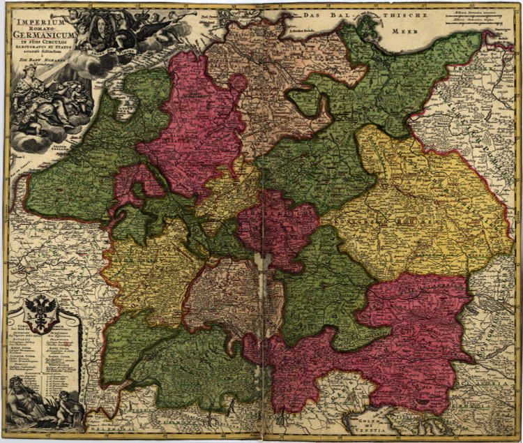 Historic Map - Germany - 1700's