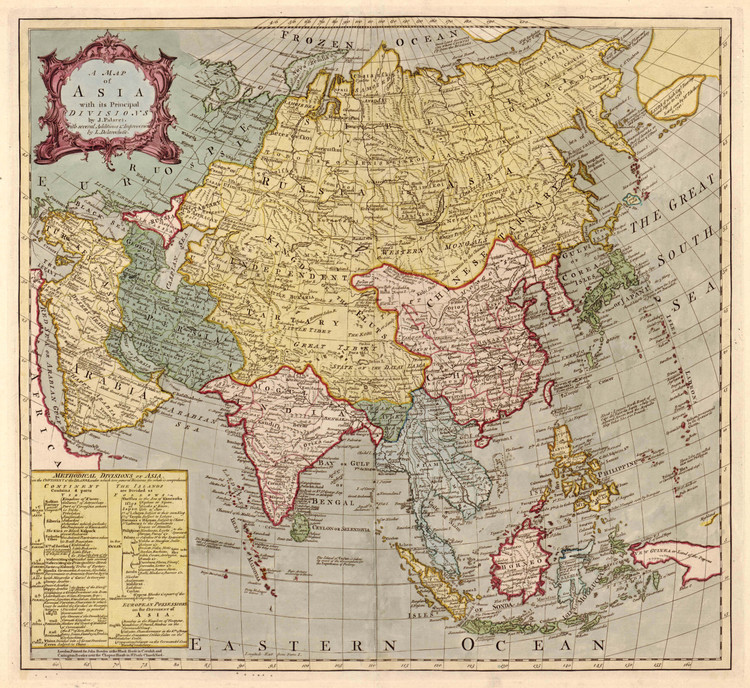 Historic Map - Asia - 1700