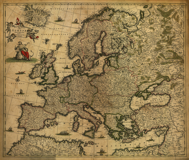 Historic Map - Europe - 1700