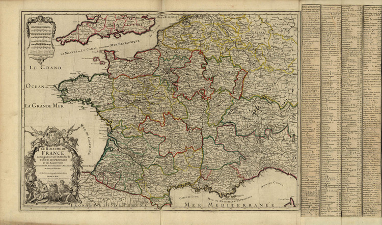 Historic Map - France - 1724