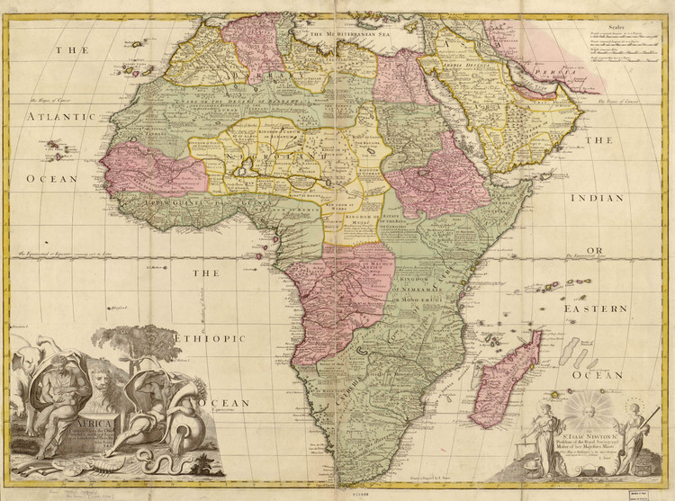 Historic Map - Africa - 1725