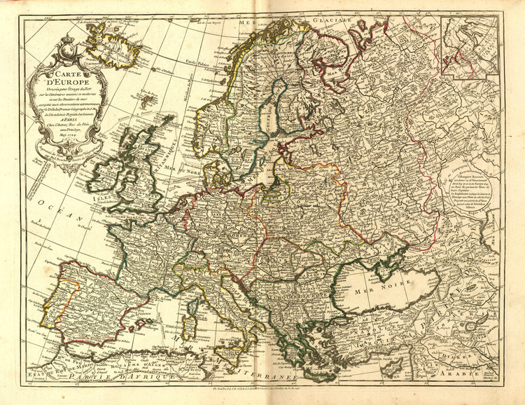 Historic Map - Europe - 1769