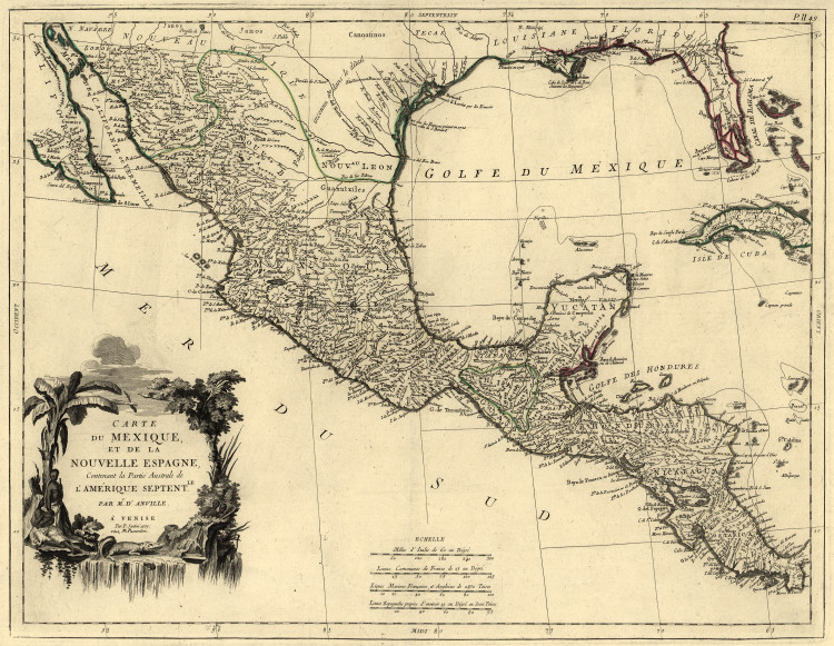 Historic Map - Central America - 1779