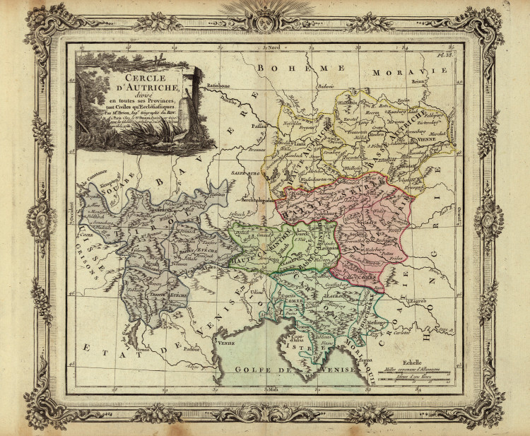 Historic Map - Europe - 1792 (Austria and surrounding areas)