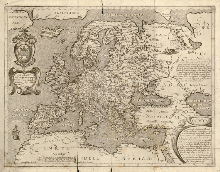 Historic Map - Europe - 1600